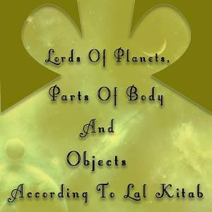 lords of planets parts ,of body and objects according to lal kitab