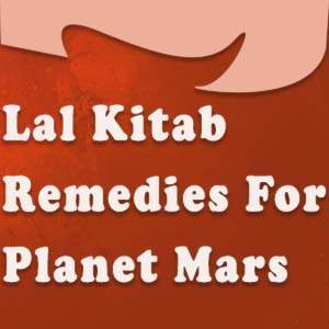 lal kitab remedies for mars